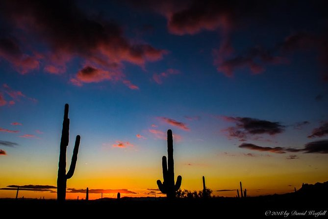 Sunset at the feet of the Superstition Mountains