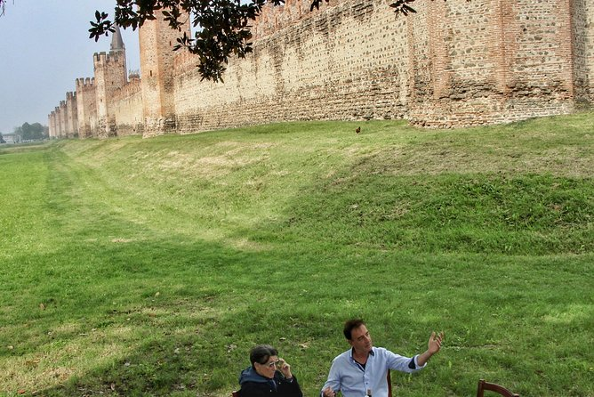 Medieval Lunch Or Dinner In Front Of Medieval Walls