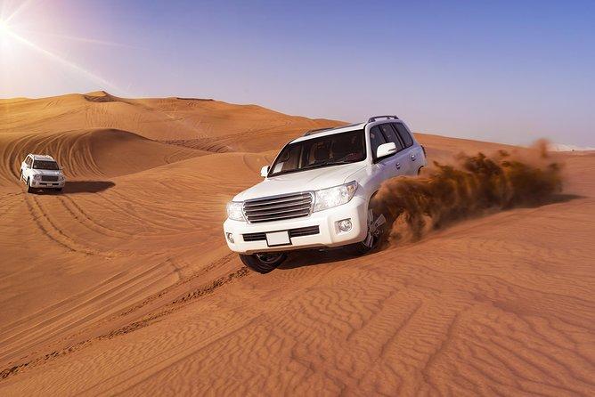 Dubai: Morning Desert Safari, Dune Bashing, Sand Boarding & Camel Ride