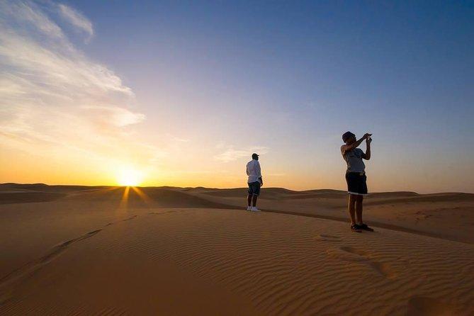 Sun Downer Desert Safari With Camel Trekking, BBQ and Buffet Dinner