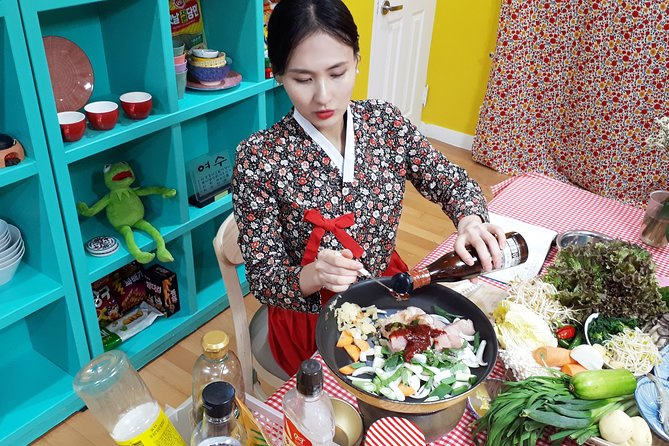 Korean Cooking Class with Full-Course Meal & Local Market Tour