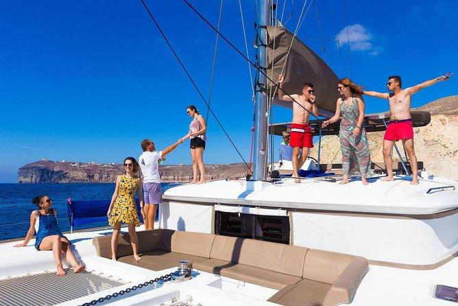 Santorini Caldera Cruise including Greek Meal and Drinks