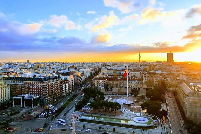 Private 8-hour City Tour of Madrid with driver & guide with pick up & ticket