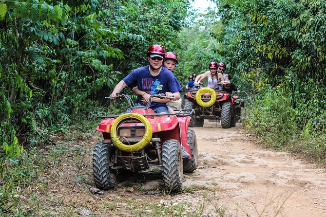 ATV adventure with Zipline And Tarzan Jump in Cenote (lunch included)