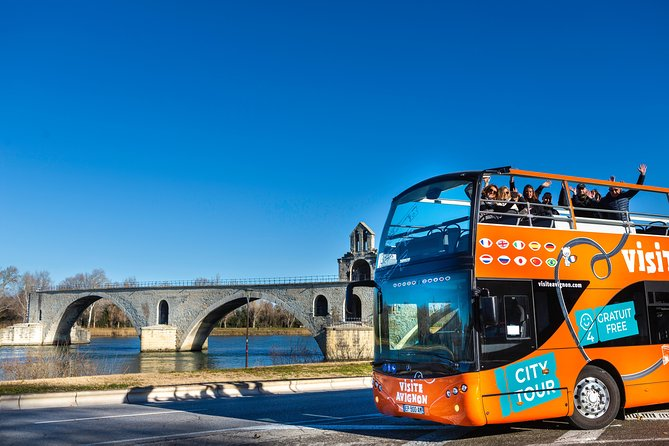 Visit Avignon and Villeneuve lez Avignon aboard a Double-Decker Bus