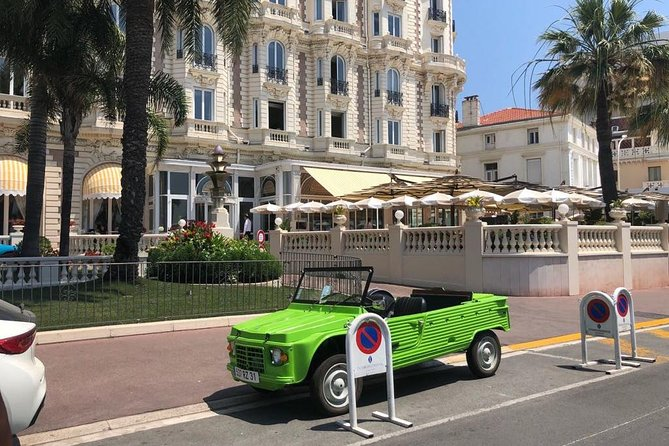 Private transfer in Citroën Méhari from Nice Airport to Cannes