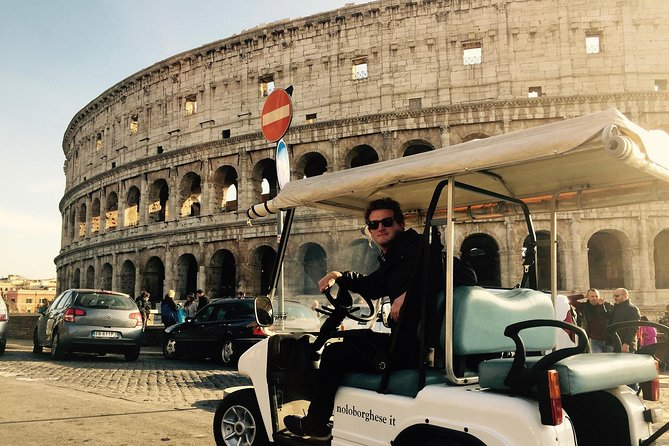 Evening Golf Cart Tour of Rome with Drinks