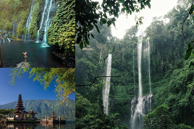 Private Sekumpul Waterfall, Banyumala Waterfall and Bedugul Temple
