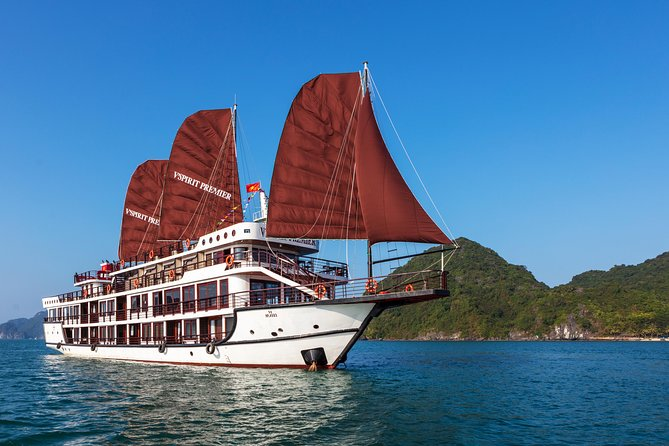 V'Spirit Premier Cruise: 2 days 1 night in Ha Long Bay - Lan Ha Bay from Hanoi