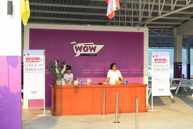 Check in at the Wow Andaman Pier in Khao Lak