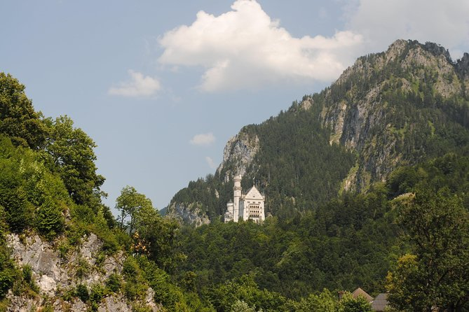 Special view to King Ludwig Castle Neuschwanstein