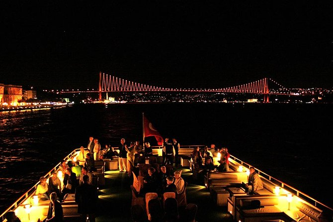 A Cruise on Bosphorus in the Night with Traditional Show Alcohol Included