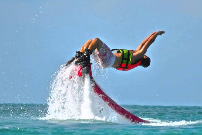 Flyboard in the caribbean waters of Cancun