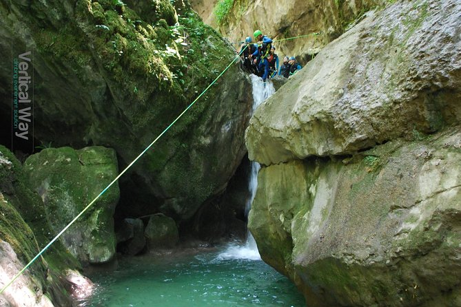 Canyoning sports day in the Furon en Vercors - Grenoble