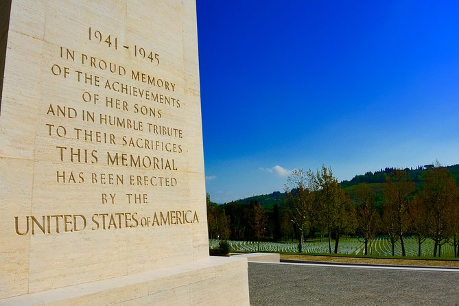 Private Tuscany Excursion. Florence American Cemetery, Greve in Chianti, Winery