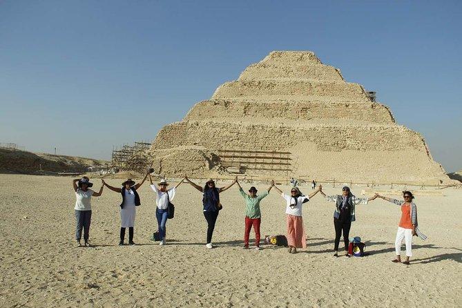 Meditation by Dahshur and Saqqara pyramids