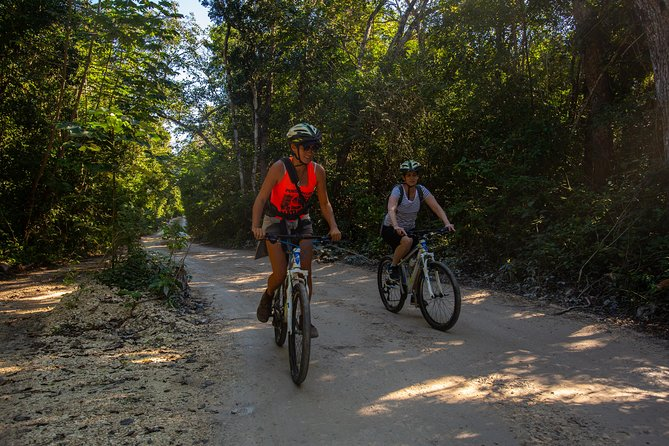 Cenote trail jungle bike tour & 3 cenotes in Tulum with lunch