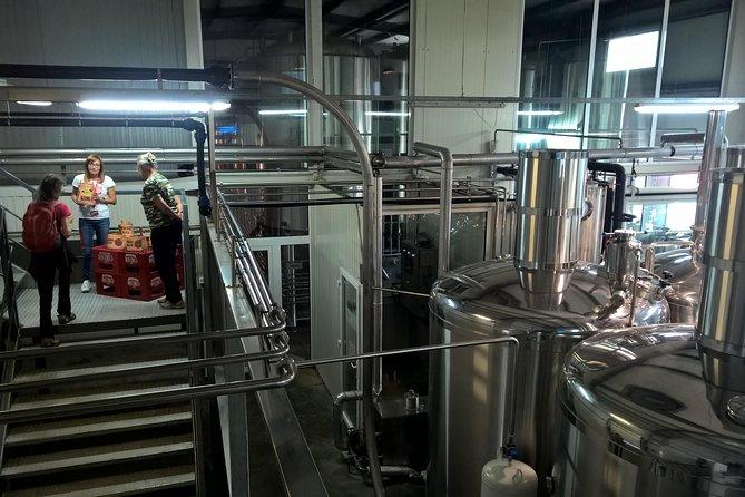 In the beer factory