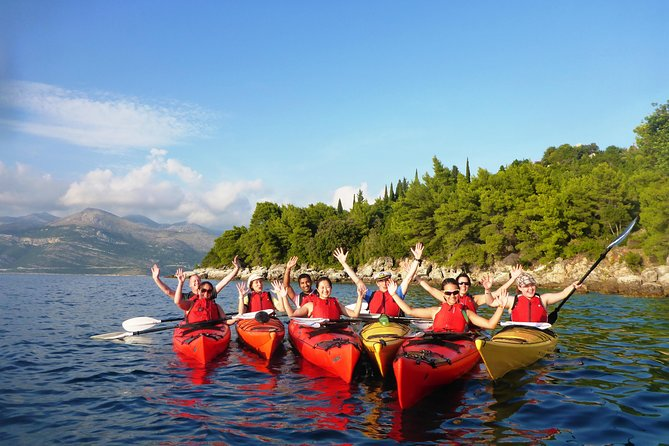 Full Day Sea Kayaking and Snorkeling to Green Cave on Elaphite from Dubrovnik