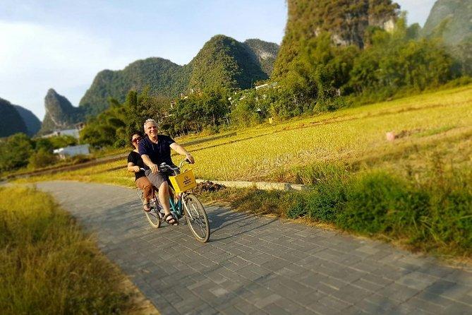 Mini Group Tour: Xianggong Hill, Yulong River Biking and Rafting along Li River