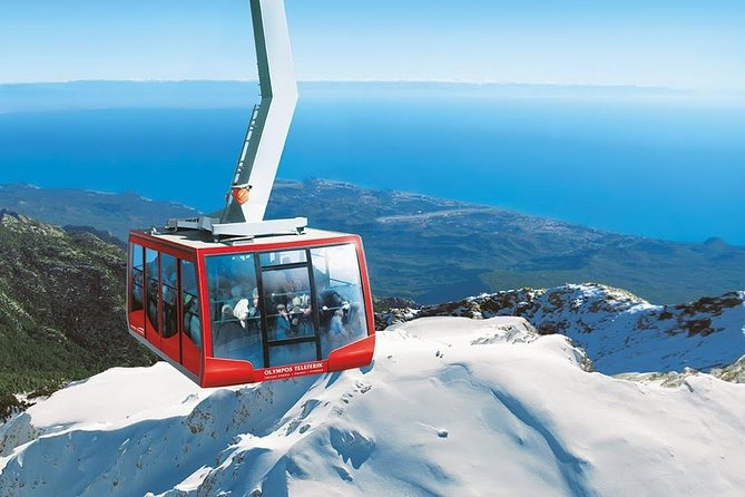 olympos cable car with transfer from antalya