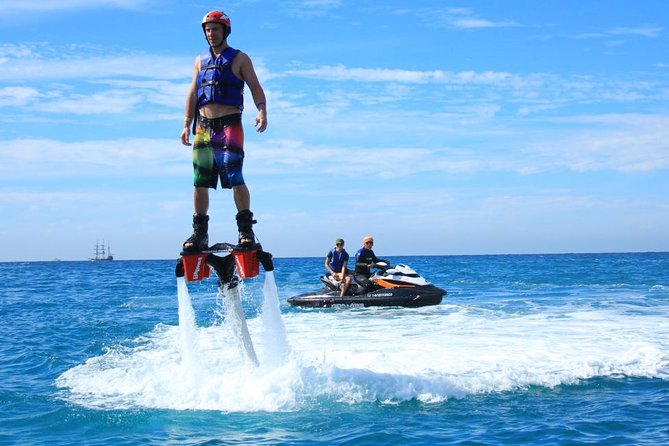 Fly with Jetpack Staff on a Flyboard