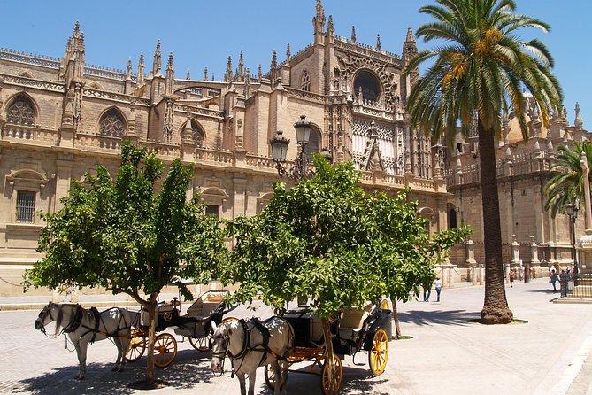 Monuments de Séville: la cathédrale, l'Alcazar et la Giralda avec les billets