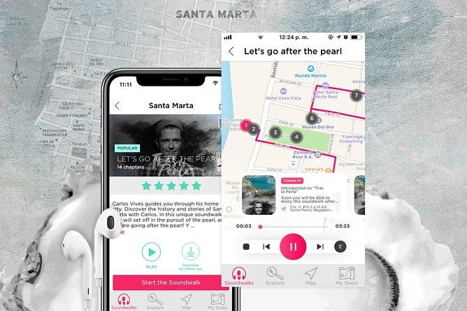 Follow Carlos Vives after The Pearl Santa Marta Audio walk