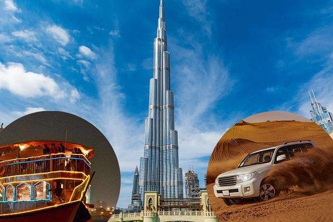 Dubai Trio Saver Pack - Desert Safari Dubai- Dubai City Tour- Dhow Cruise Dinner