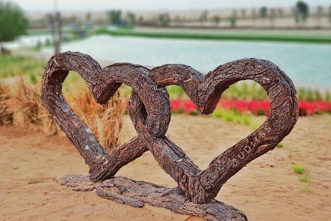 Love Lake Dubai Heart Shaped Lake in The Desert Dubai Tour Package