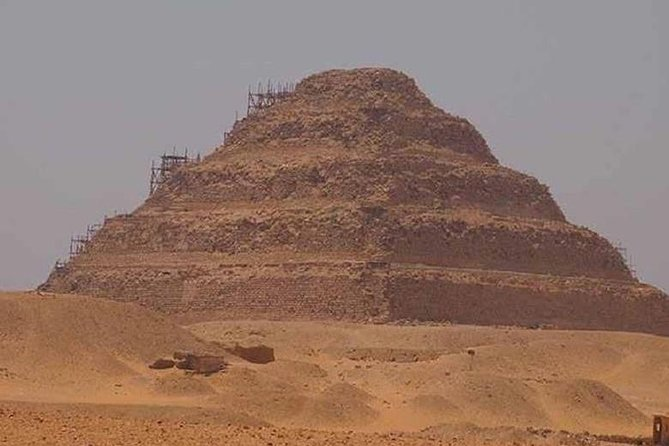 Memphis, Step Pyramid of Saqqara and the Pyramids of Giza from Cairo / Giza