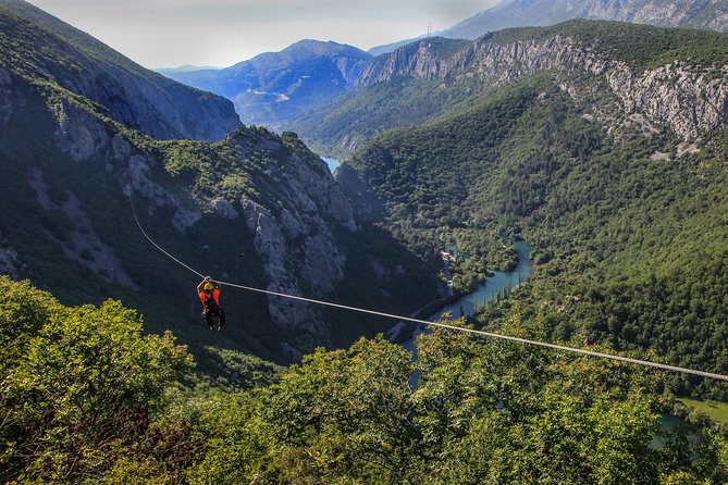 Zipline Croatia: Cetina Canyon Zipline Adventure from Omis