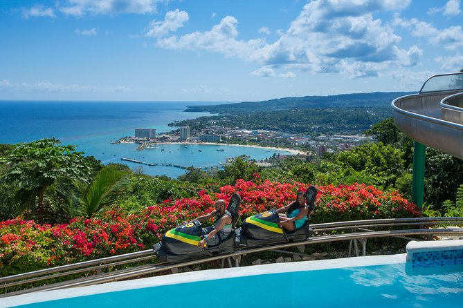 Mystic Mountain Bobsled Tour and Dunns River Falls from Falmouth Pier
