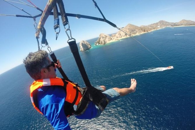 Single, Tandem, or Triple PARASAILING in Cabo with Views of The Arch