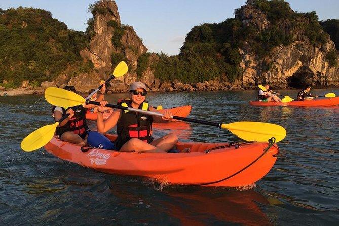 Renea Cruises Halong bay 2 days, 1 night: Bai Tu Long bay, Kayaking and swimming