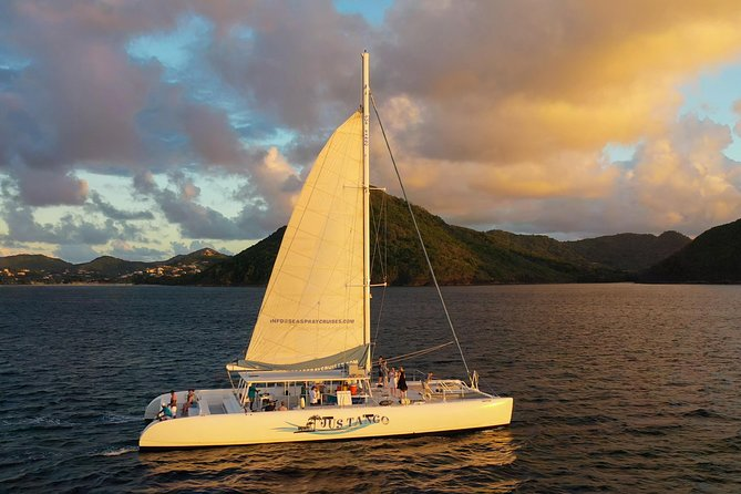 Private Catamaran Sunset Cruise from St Lucia for Up to 8 Guests