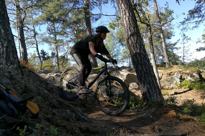Mountain biking in Stockholm forests
