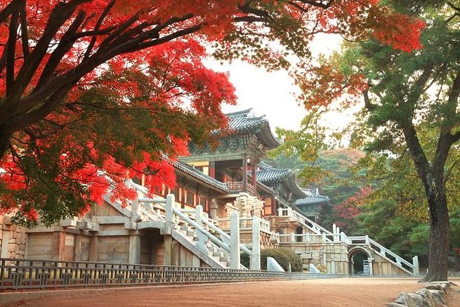 Image result for autumn korea temple