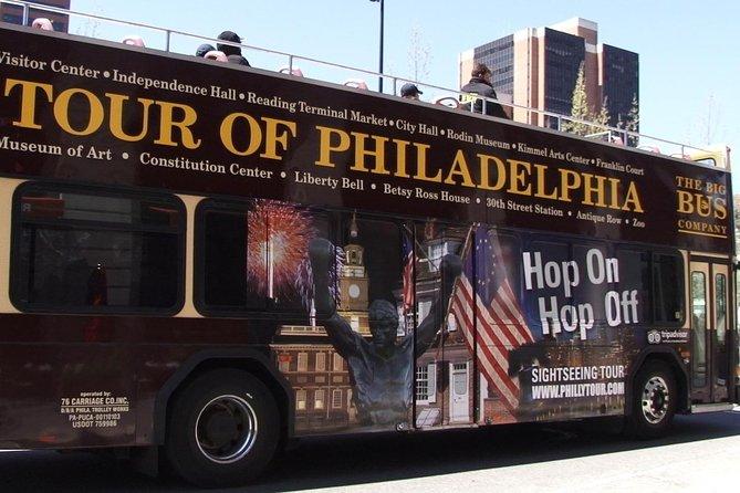 Entrada para excursão em ônibus de dois andares com 27 paradas na Filadélfia