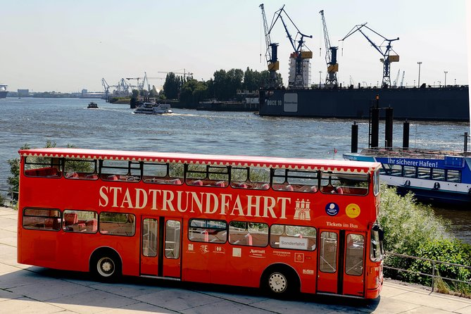 Hamburg Hop-on Hop-off Tour on Red Double Decker Bus