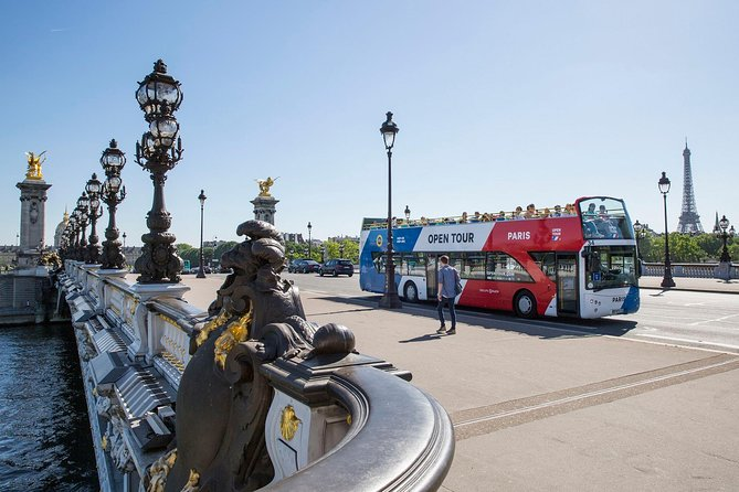 Open Tour Paris Hop on Hop off Sightseeing Bus by Day & Night