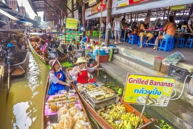 Bangkok: Join Tour Risky Market (mae Klong),boat Riding, Amphawa Floating Market