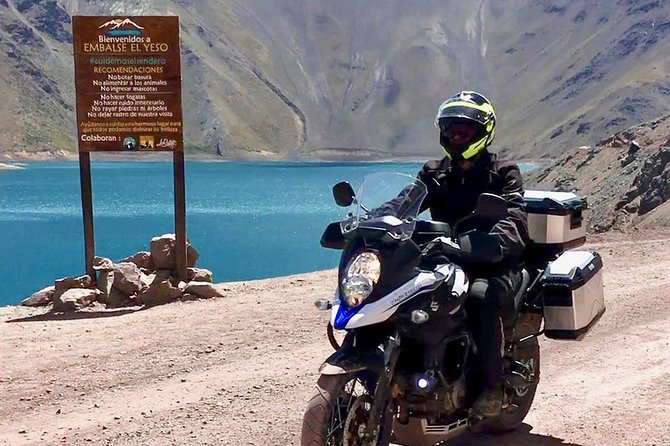 Motorcycling in the Andes: Yeso Reservoir