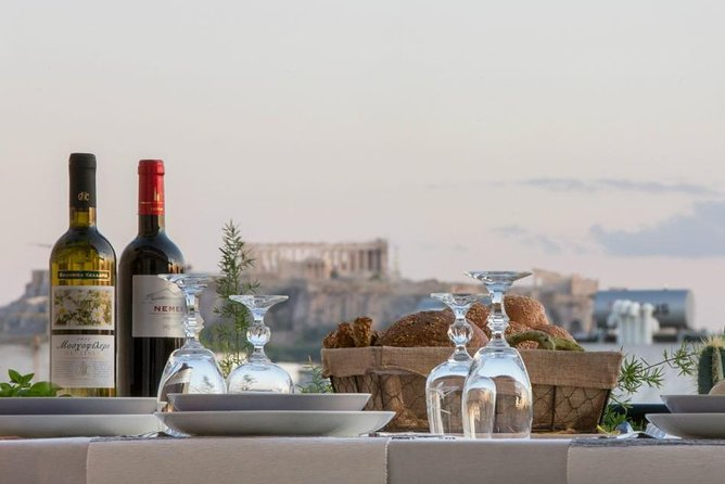 Rooftop Greek Dinner with a View of the Acropolis