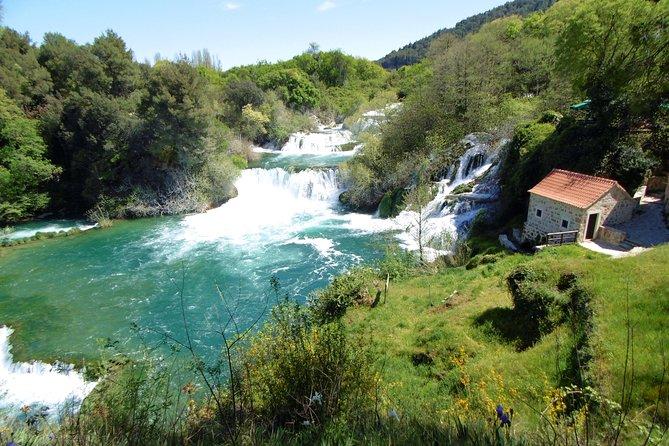From Zadar: Krka Waterfalls, Visovac islet and Sibenik