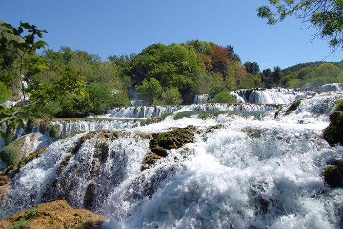 From Zadar: Krka waterfalls, Visovac islet & Sibenik Private Tour