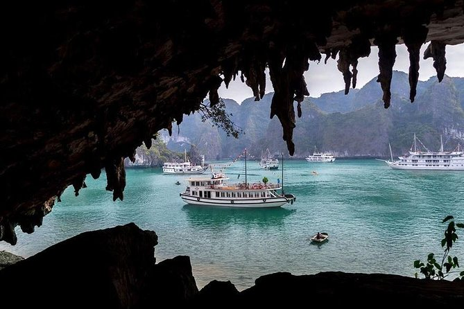 Full-Day Halong Bay Islands and Cave Tour Transfer 2 Ways by Newest Expressway