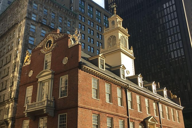 Old State House (1713), in sight of where our tour begins at 1 Washington St