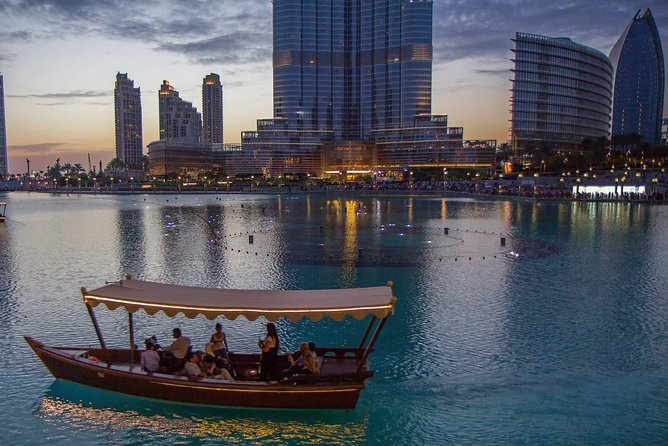 Dubai Fountain Show och Lake Ride