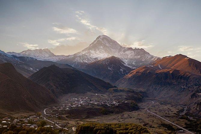 Day tour to Kazbegi, Gveleti Waterfalls & Dariali Gorge including lunch & Chacha